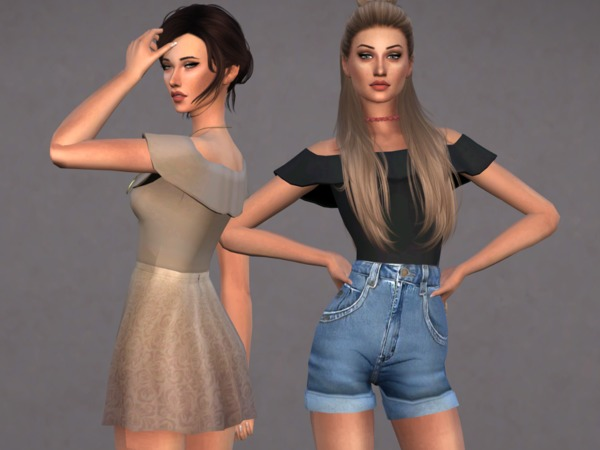 Harloe Bodysuit Set by Christopher067 at TSR image 6812 Sims 4 Updates