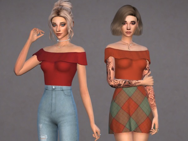 Harloe Bodysuit Set by Christopher067 at TSR image 6911 Sims 4 Updates
