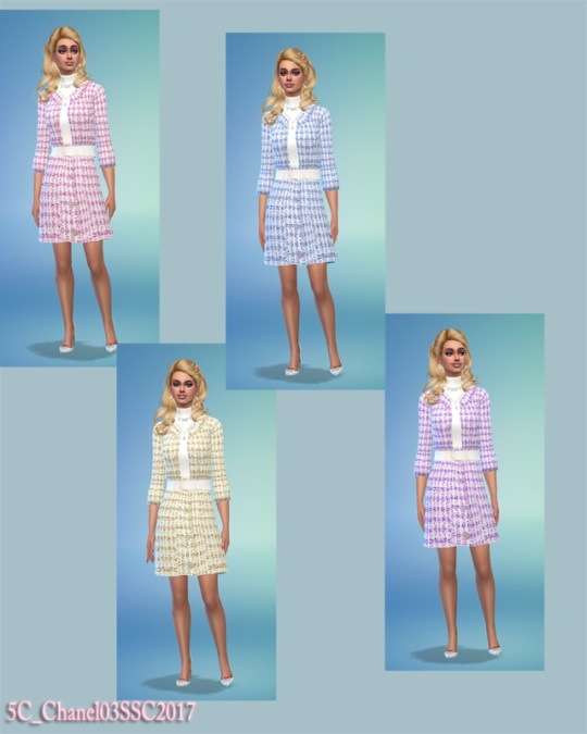 Sims 4 Spring/Summer Couture 2017 Look #3 at 5Cats
