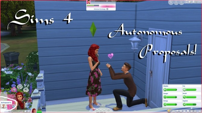 Sims 4 Autonomous Proposals by PolarBearSims at Mod The Sims