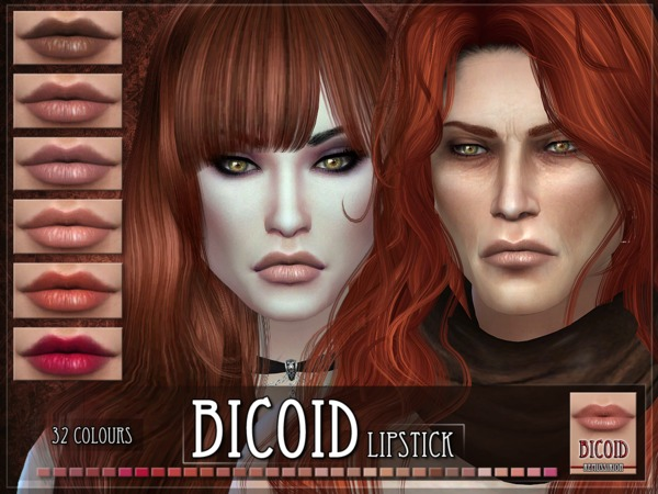 Sims 4 Bicoid Lipstick by RemusSirion at TSR