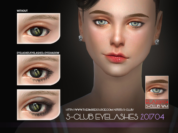 Eyelashes 201704 by S Club WM at TSR image 717 Sims 4 Updates