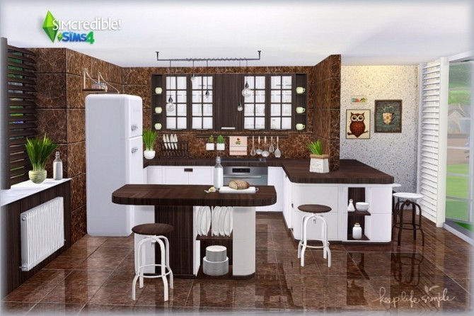 Keep Life Simple kitchen (Pay) at SIMcredible! Designs 4 image 731 670x446 Sims 4 Updates
