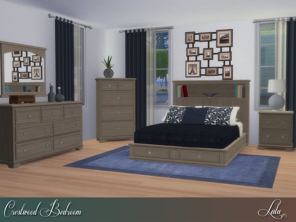 Crestwood Bedroom by Lulu265 at TSR image 750 Sims 4 Updates