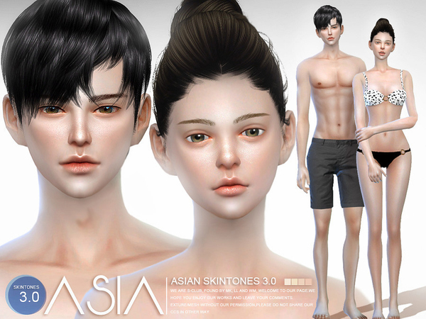 ASIAN skintones 3.0 all ages by S Club WMLL at TSR image 7511 Sims 4 Updates