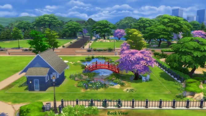 Sims 4 Flower Garden and Coffee Shop by Snowhaze at Mod The Sims