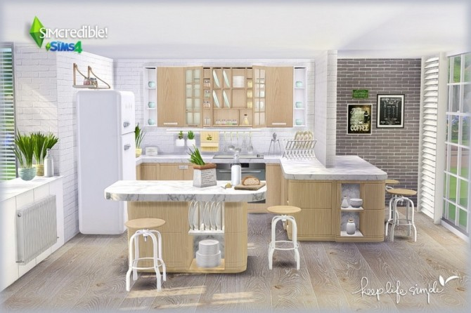 Keep Life Simple kitchen (Pay) at SIMcredible! Designs 4 image 762 670x446 Sims 4 Updates