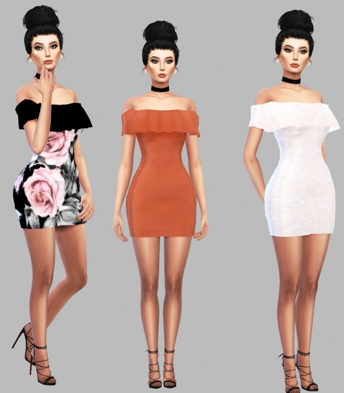 Ruffle Dress at Simply Simming image 7811 670x766 Sims 4 Updates