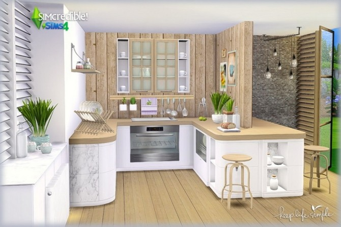 Keep Life Simple kitchen (Pay) at SIMcredible! Designs 4 image 782 670x446 Sims 4 Updates