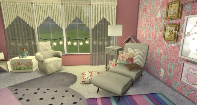 Sims 4 Vintage Girl Nursery at Pandasht Productions