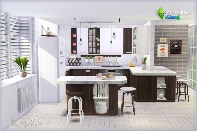 Keep Life Simple kitchen (Pay) at SIMcredible! Designs 4 image 801 670x446 Sims 4 Updates