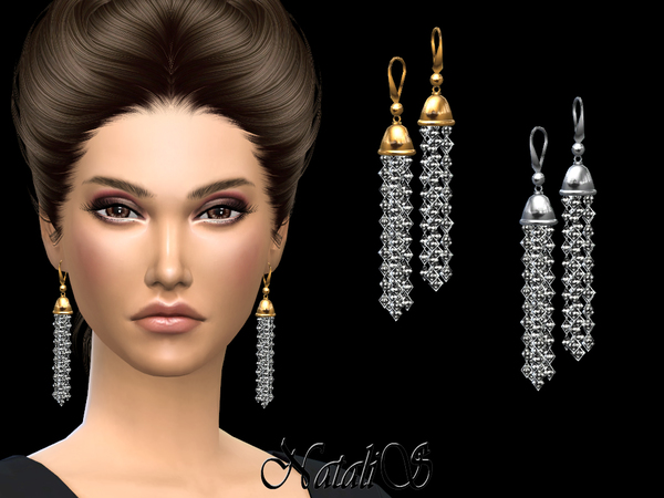 Crystal Tassel Earrings by NataliS at TSR image 8100 Sims 4 Updates