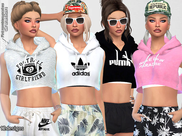 Sleeveless Hoodie Collection By Pinkzombiecupcakes At Tsr