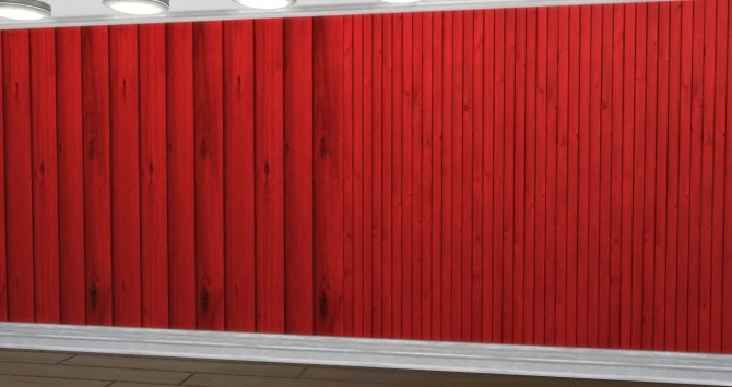Sims 4 Wooden wall in six colors by 0 Positiv at Mod The Sims