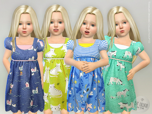 Sims 4 Toddler Dresses Collection P10 by lillka at TSR