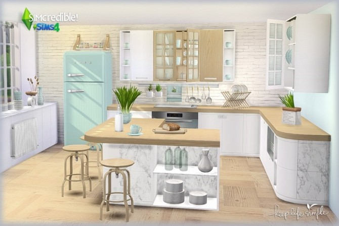 Keep Life Simple kitchen (Pay) at SIMcredible! Designs 4 image 822 670x446 Sims 4 Updates