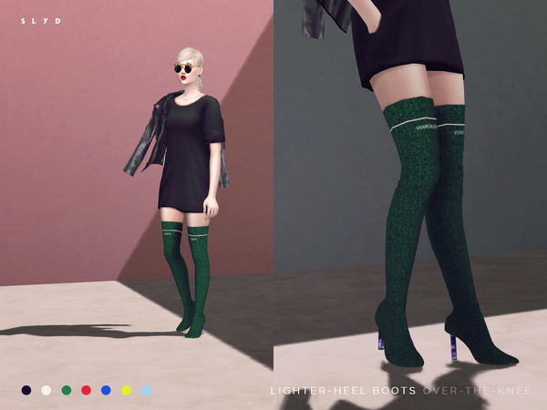 Sims 4 Lighter Heel Boots by SLYD at TSR