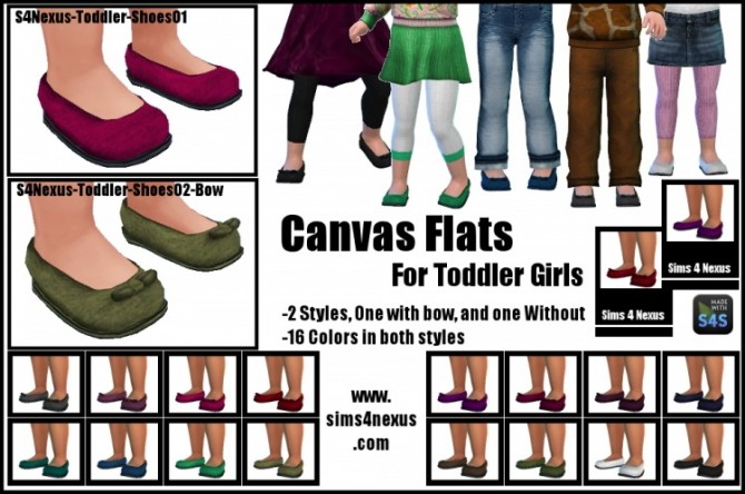 Canvas Flats for Toddler Girls at Sims 4 Nexus » Sims 4 Updates