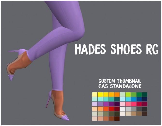 Sims 4 Hades Shoes RC at SimsWorkshop