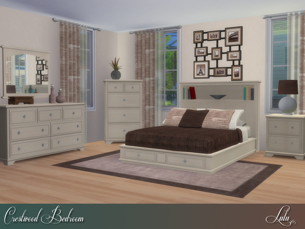 Crestwood Bedroom by Lulu265 at TSR image 850 Sims 4 Updates