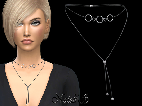 Choker with geometric pendants by NataliS at TSR image 8512 Sims 4 Updates