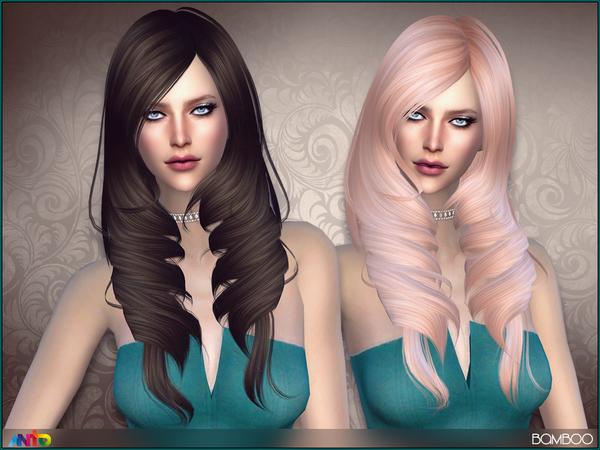 Sims 4 Bamboo hair by Anto at TSR