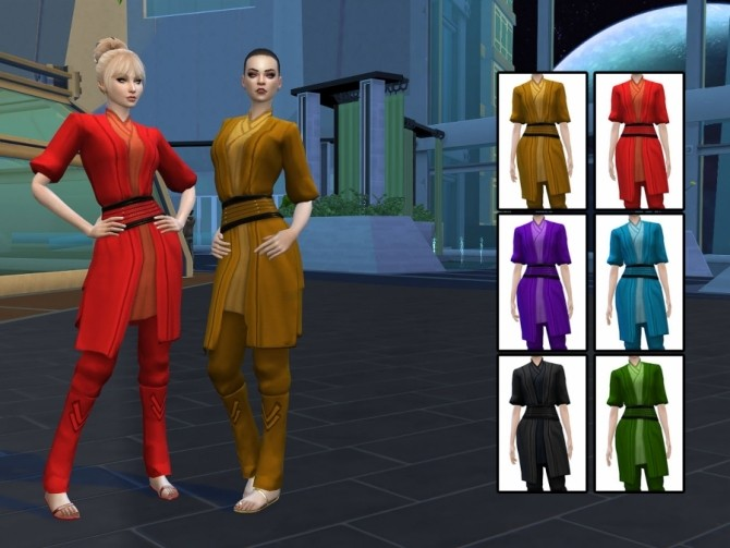 Sims 4 Sith dress without gloves by Delise at Sims Artists