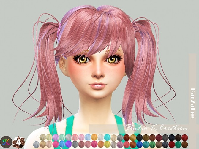Sims 4 Animate hair 78 Judy A version at Studio K Creation