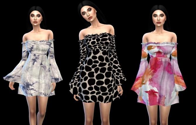 Sims 4 Boho Dress at Leo Sims