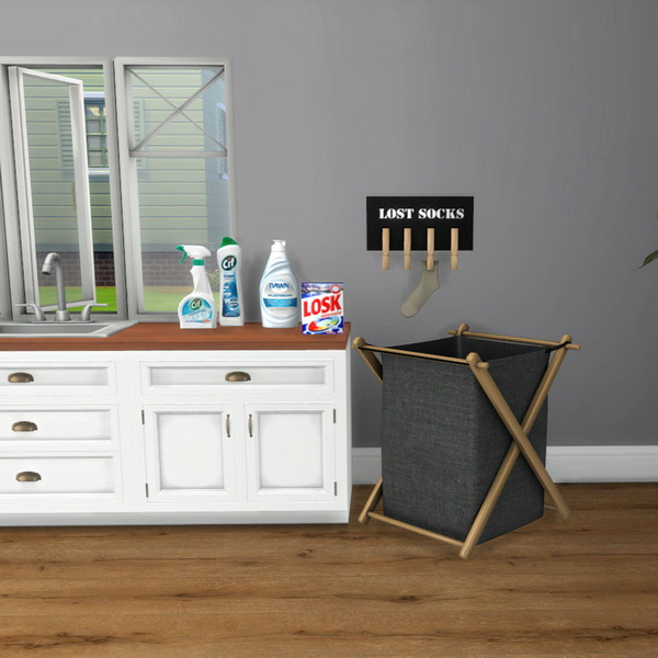 Sims 4 Laundry clutter at Leo Sims