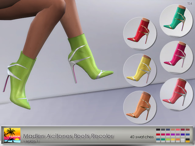 Madlen Acitones Boots Recolor at Elfdor Sims image 889 Sims 4 Updates