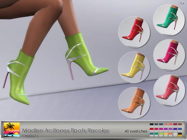 Madlen Acitones Boots Recolor at Elfdor Sims image 889 Sims 4 Updates