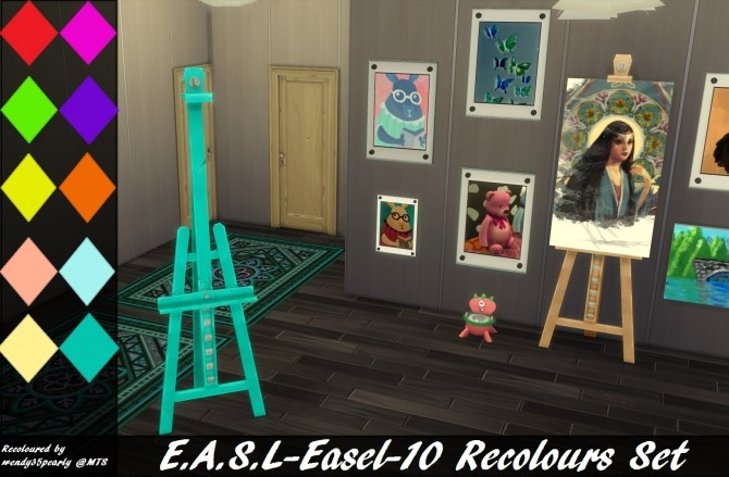 E.A.S.L. Easel 10 Recolours by wendy35pearly at Mod The Sims image 891 670x439 Sims 4 Updates