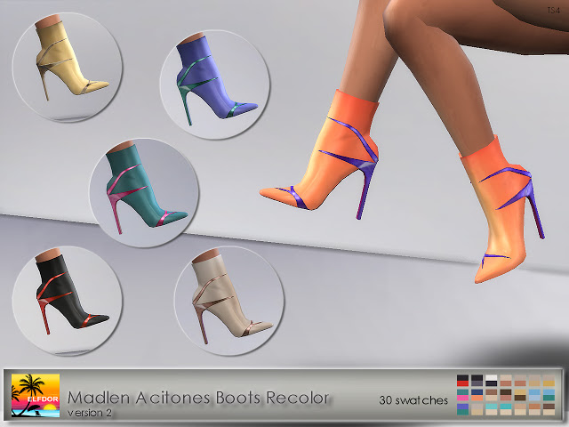 Madlen Acitones Boots Recolor at Elfdor Sims image 899 Sims 4 Updates