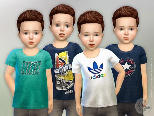 Sims 4 T Shirt Toddler Boys P01 by lillka at TSR