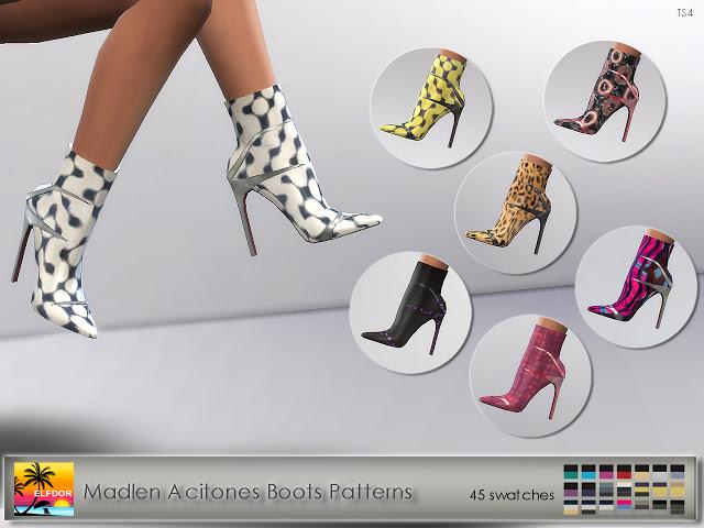Madlen Acitones Boots Recolor at Elfdor Sims image 909 Sims 4 Updates