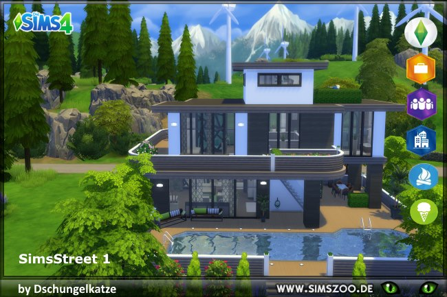 Sims 4 Simsstreet1 house by Dschungelkatze at Blacky's Sims Zoo