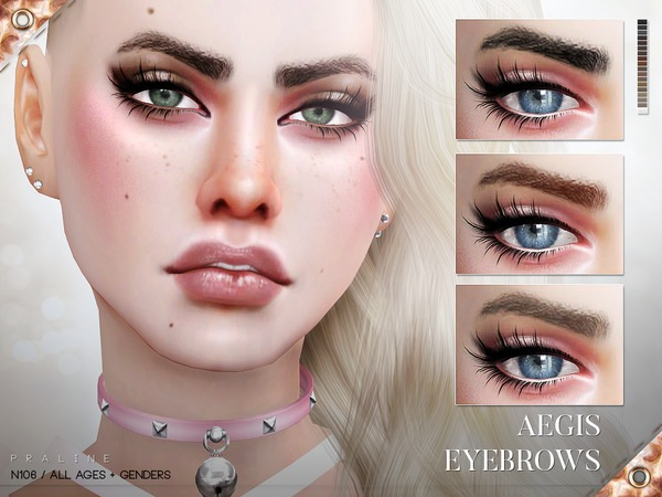 Aegis Eyebrows N106 by Pralinesims at TSR image 915 Sims 4 Updates