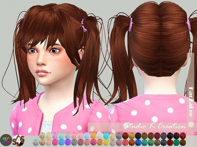 Animate hair 78 Judy Child version at Studio K Creation image 918 670x502 Sims 4 Updates