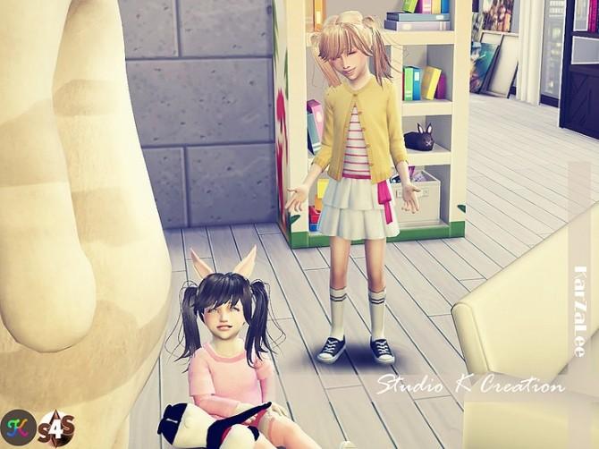 Animate hair 78 Judy Child version at Studio K Creation image 924 670x502 Sims 4 Updates