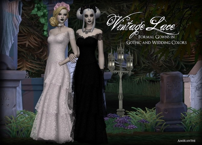 Vintage Lace Gowns at Ameranthe – Camera Obscura image 938 670x481 Sims 4 Updates