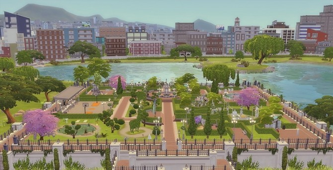 Downtown Park at Via Sims image 942 670x342 Sims 4 Updates