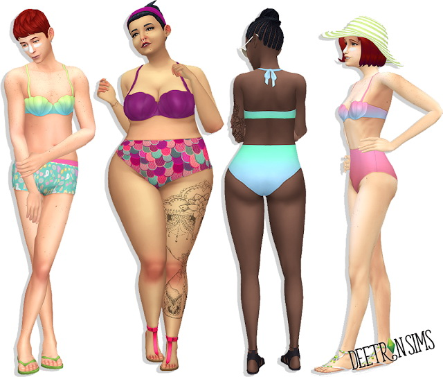 She Swells Seashells Bikini at Deetron Sims image 947 Sims 4 Updates