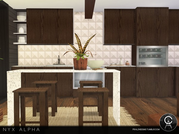 Sims 4 Nyx Alpha house by Pralinesims at TSR