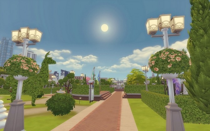 Downtown Park at Via Sims image 952 670x419 Sims 4 Updates