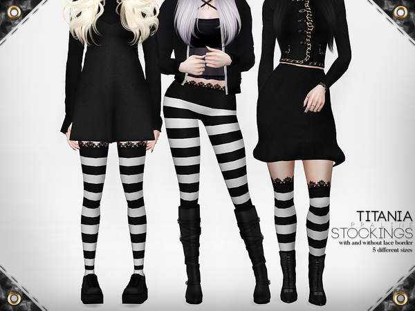 Titania Stockings by Pralinesims at TSR image 9611 Sims 4 Updates