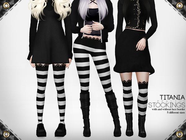 Sims 4 Titania Stockings by Pralinesims at TSR