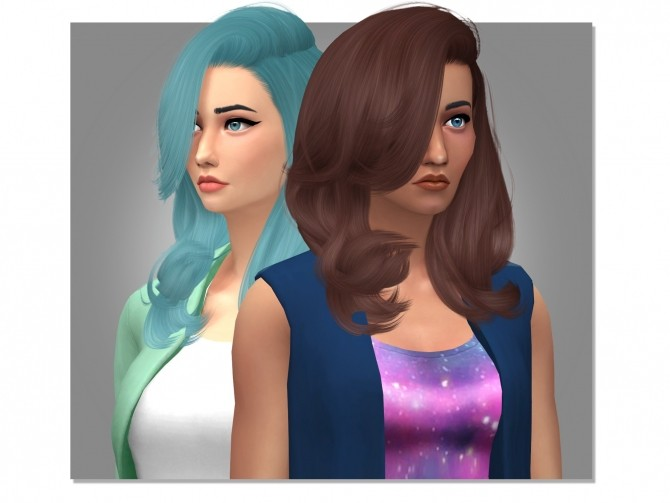 Sims 4 Stealthics Erratic Hair Retexture by xEenhoornx at SimsWorkshop