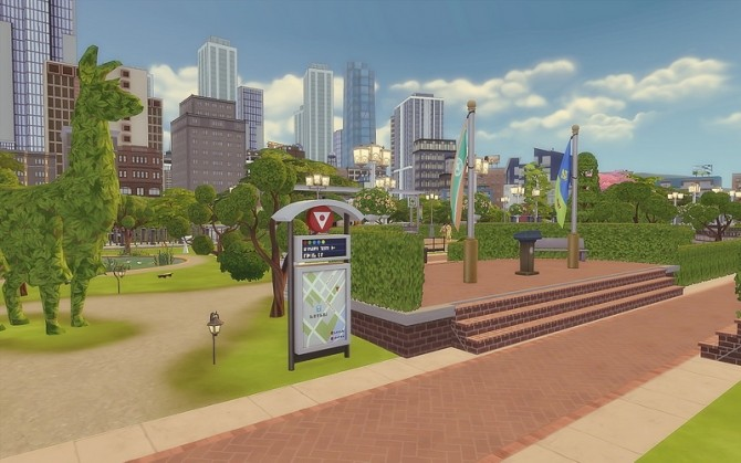 Downtown Park at Via Sims image 962 670x419 Sims 4 Updates