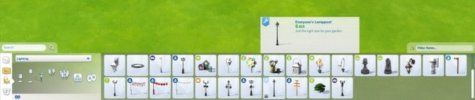 Sims 4 Everyones Mini Lamppost by Snowhaze at Mod The Sims
